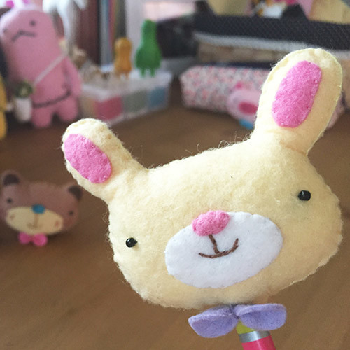 [DIY]cute pencil topper-rabbit