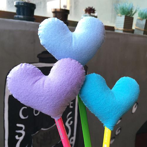 [DIY]heart pencil topper-blue type