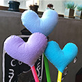 [DIY]heart pencil topper-blue type