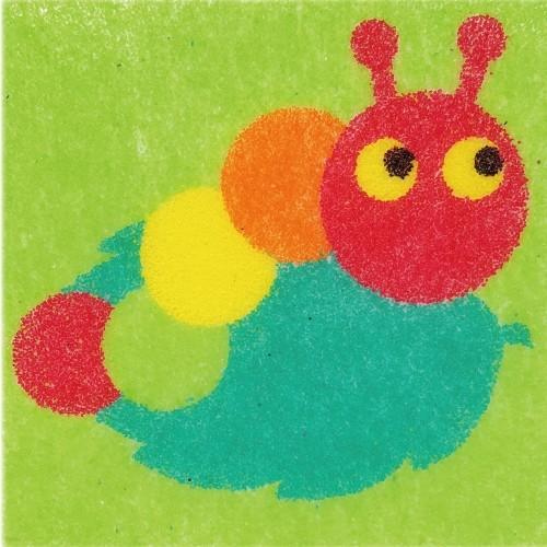 [데코샌드] 꼬메빔보 액자만들기 114 애벌레
