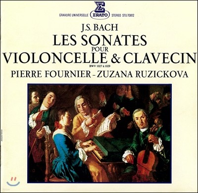Pierre Fournier 피에르 푸르니에 - 바흐: 첼로 [비올라 다 감바] 소나타집 (Bach: Les Sonates pour Violoncelles & Clavecin BWV1027-1029)