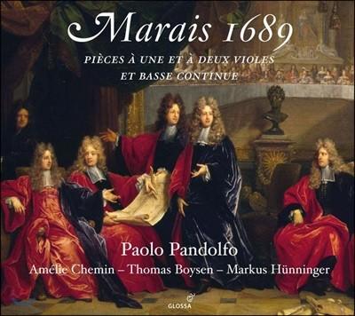 Paolo Pandolfo 마랭 마레: '1689년' 한 대와 두 대의 비올을 위한 작품집 - 파올로 판돌포 (Marin Marais 1689: Pieces for One & Two Viols & Bass Continuo)