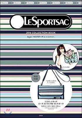 LESPORTSAC 2016 COLLECTION BOOK STYLE 1 マルチポ-チ (ビ-チストライプ)