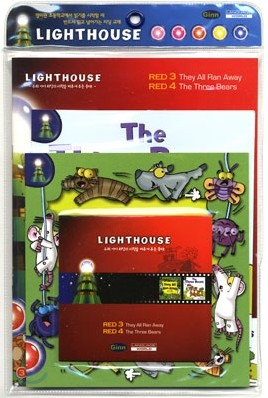 Lighthouse Red 3,4 : They All Ran Away / The Three Bears (Book+CD)