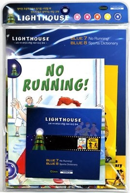 Lighthouse Blue 7,8 : No Running! / Sports Dictionary (Book+CD)