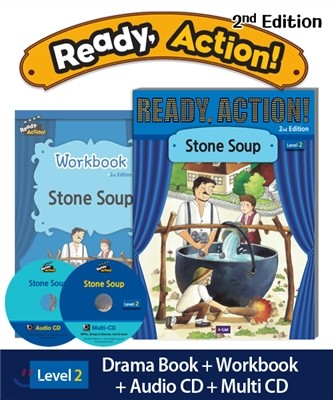 Ready Action Level 2 : Stone Soup (SB+WB+Audio CD+Multi-CD)