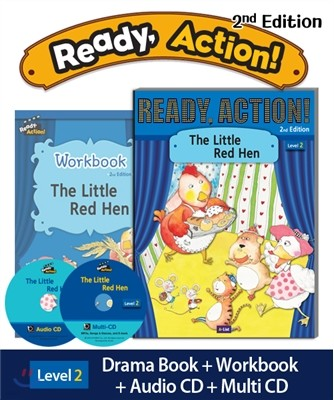Ready Action Level 2 : The Little Red Hen (SB+WB+Audio CD+Multi-CD)