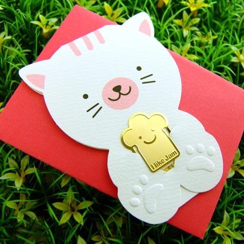 [책갈피 카드] 미니 낭만 고양이 북찌카드