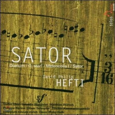 다비드 필립 헤프티: 클라리넷 협주곡 '사토르' (David Philip Hefti: Sator, Diarium, O Star, Melencolia I)