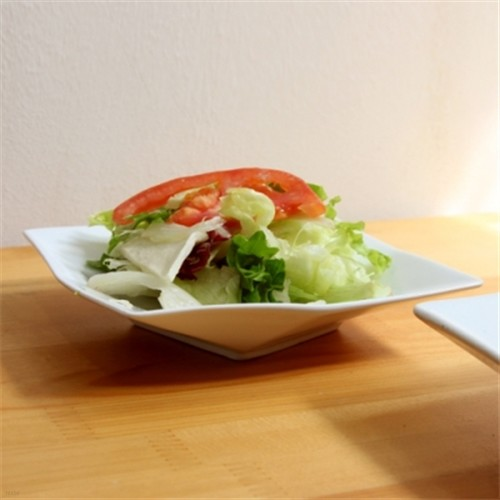 Fairway 화이트 사각 접시 1p -소