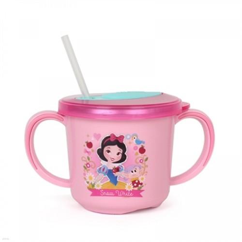 [Disney] 백설공주 흘림방지 스텐양수 빨대컵