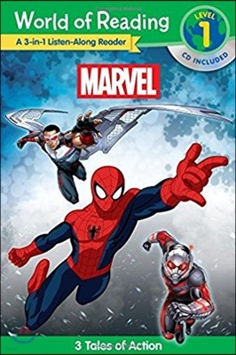 World of Reading : Marvel Marvel 3-in-1 Listen Along Reader