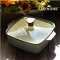 퀸센스 유로피안 사각파스텔 세라믹냄비 20cm(CN6501)