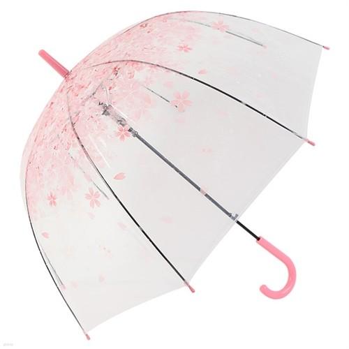 체리블라썸 돔모양 투명우산 벚꽃 장우산