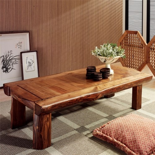 [채우리] 윤슬 소나무 원목좌탁 1200
