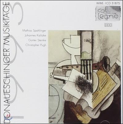 도나우에싱겐 페스티벌 1993 - 마티아스 스파링거 / 요하네스 칼리츠케 / 귄터 슈타인케 / 크리스토퍼 푸 (Donaueschinger Musiktage - Mathias Spahlinger, Johannes Kalitzke, Gunter Steinke, Christopher Pugh)