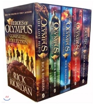 Heroes of Olympus 5 Books Complete Collection Box Set