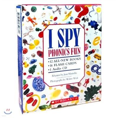 아이 스파이 12권 세트: I SPY phonics Fun Boxed (12 Books with CD + Flash cards)