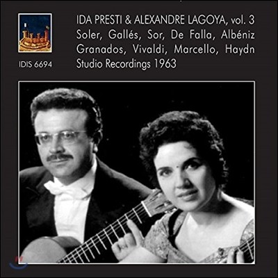 이다 프레스티와 알렉산더 라고야의 스튜디오 녹음 3집 - 솔레르 / 소르 / 데 파야 / 알베니즈 / 그라나도스 (Ida Presti & Alexandre Lagoya Vol.3 - Soler, Sor, De Falla, Albeniz, Granados)