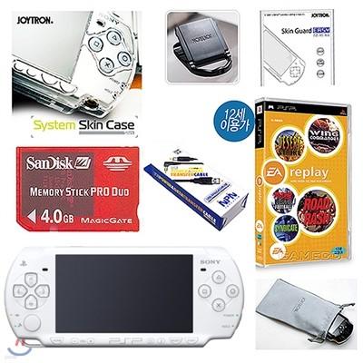 PSP 2005 화이트+샌디스크 4GB+스킨케이스+필터+케이블+초극세사(PSP)/게임타이틀1종 특별증정
