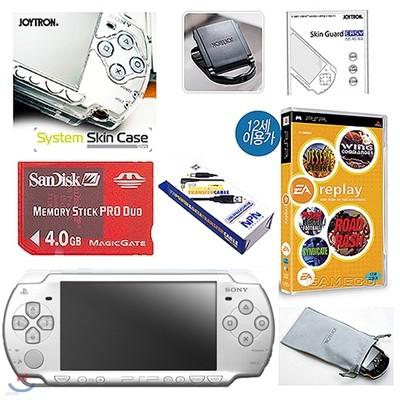 PSP 2005 아이스 실버+4GB+스킨케이스+필터+케이블+초극세사(PSP)/게임타이틀 1종 특별증정
