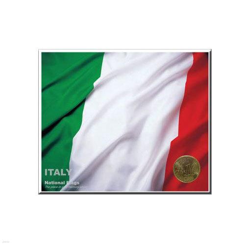 코인포스트카드(이탈리아국기) 10 EURO CENT동전용