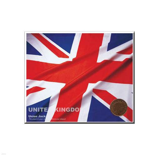 코인포스트카드(영국국기) 1 Penny동전용