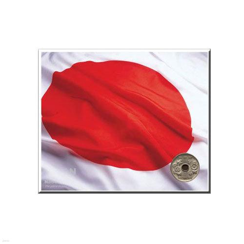 코인포스트카드(일본국기)50엔동전용