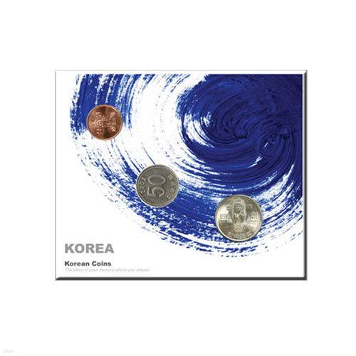 코인포스트카드(태극블루)100원/50원/10원동전용