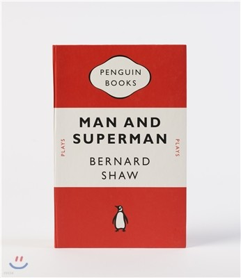 Penguin Notebook : Man and Superman (Crimson)