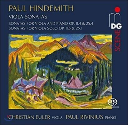Christian Euler 힌데미트: 비올라와 피아노를 위한 소나타, 비올라 솔로 소나타 (Hindemith: Sonatas for Viola & Piano Op.11,4 & 25,4, Sonatas for Viola Solo Op.11,5 & 25,1) 크리스티안 오일러