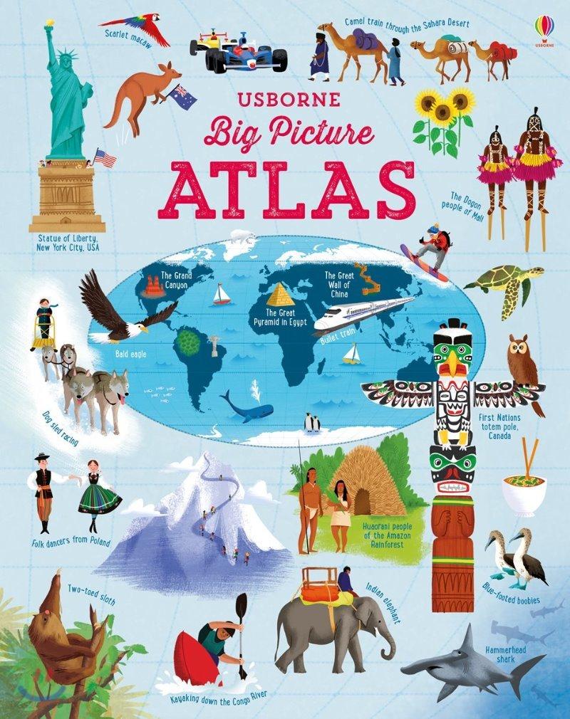 Usborne Big Picture Atlas 어스본 빅 픽쳐 아틀라스 (세계 그림 지도)