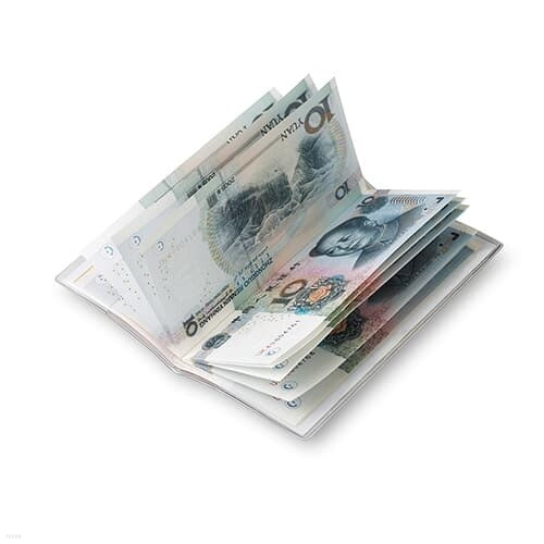 100CNY 위안화북(Yuan book):진짜위안화 신권지폐 10위안 10장 (표지색상 레드,화이트,블랙,옐로우,골드 중 랜덤발송)
