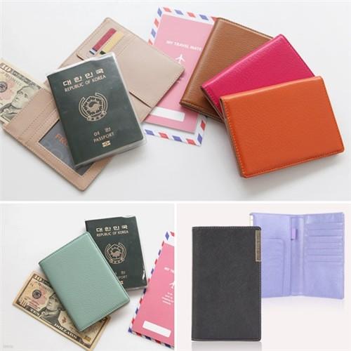 [25%특가]소가죽 여권지갑/여행필수품 여행 지갑