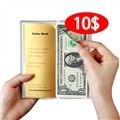 [쿠폰가:15,900원]10$ 달러북(Luckydollar book) : 진짜 달러 신권지폐 1달러 10장 (표지색상은 레드,화이트,블랙,옐로우,골드 중 랜덤발송)