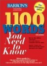 Barron's 1100 Words You Need To Know, 5/E