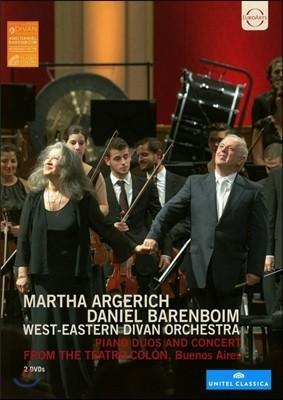 Martha Argerich / Daniel Barenboim ����Ÿ �Ƹ��츮ġ & �ٴϿ� �ٷ����� - �ǾƳ� ���, ���ְ� (Piano Duos And Concert from the Teatro Colon, Buenos Aires)