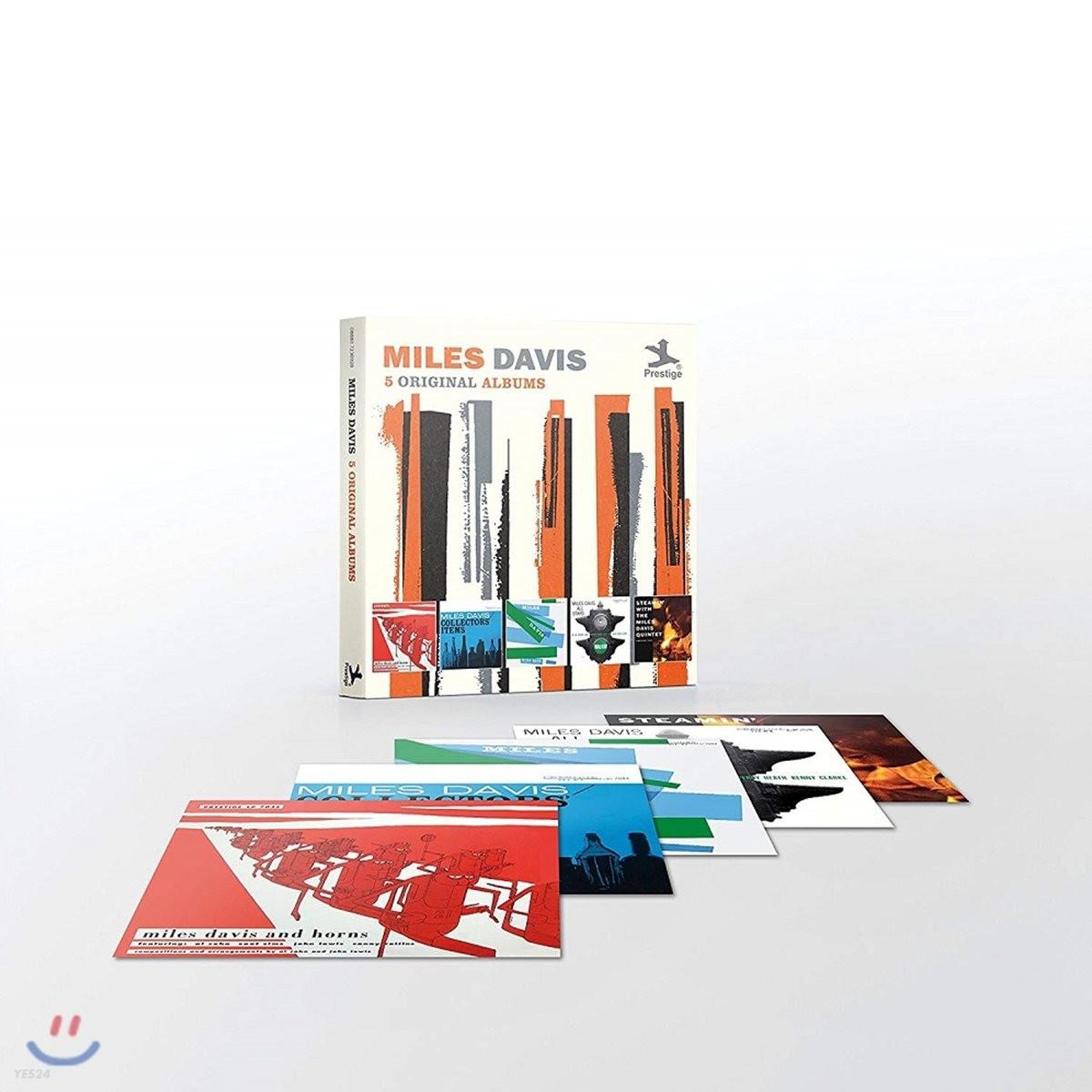 Miles Davis - 5 Original Albums [With Full Original Artwork] 마일즈 데이비스 오리지널 앨범 5CD 박스 세트