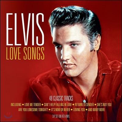 Elvis Presley (엘비스 프레슬리) - Love Songs [레드 컬러 3LP]