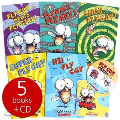 플라이 가이 펀 리더 5종 박스 세트 (Book & CD) : Fly Guy Fun Readers 5 Books Box Set