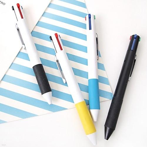 심플 그립 4색 볼펜