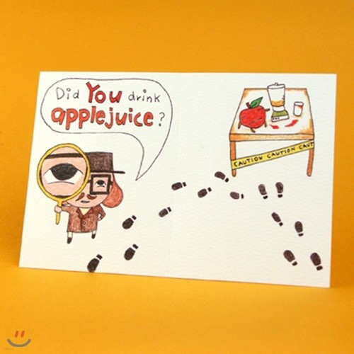2in1card-Did you drink Apple juice?