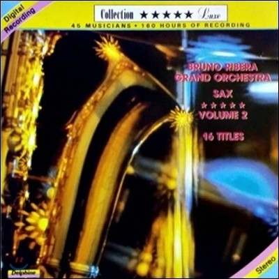 [중고] Bruno Ribera Grand Orchestra / Sax Vol. 2 (일본수입)