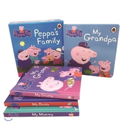 페파 피그 보드북 원서 4종 세트 (가족 이야기) : Peppa Pig : Peppa's Family