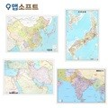 중국,일본,인도,중동지도 소형 코팅형/4종택1/중국지도,일본지도,인도지도,중동지도,지도,전도