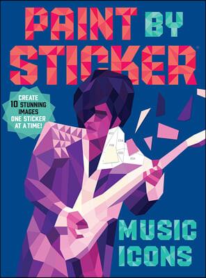 Paint by Sticker : Music Icons : 스티커로 색칠하기 : 뮤직 아이콘 (가수 / 락스타)