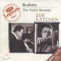 브람스 : 바이올린 소나타집 - 요셉 수크, 카첸