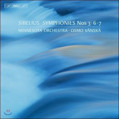 Osmo Vanska 시벨리우스: 교향곡 3번, 6번 7번 (Sibelius: Symphonies Opp.52, 104 & 105) 오스모 벤스케