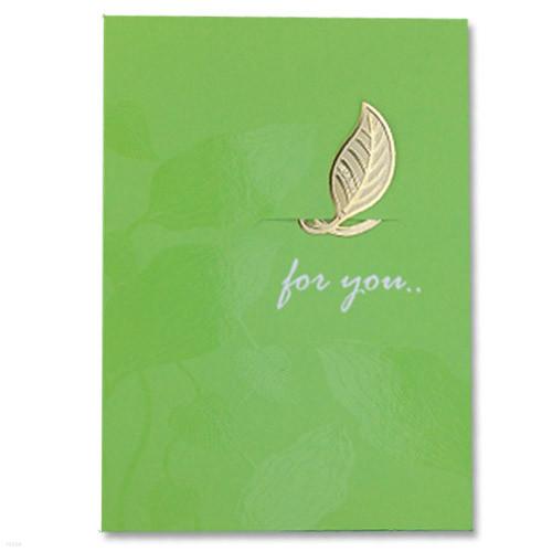 [책갈피 카드] 미니 나뭇잎 북찌카드
