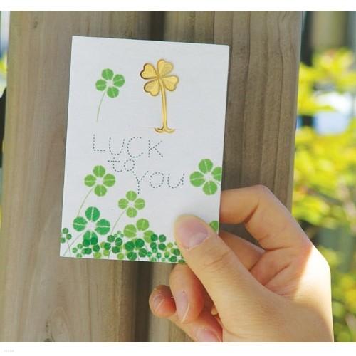 [책갈피 카드] 미니 행운 클로버 북찌카드